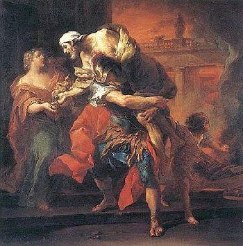 Anchises und Aeneas (Griechische Mythologie)