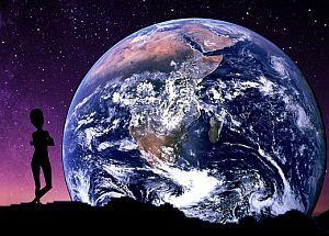 Alien Besuch der Erde