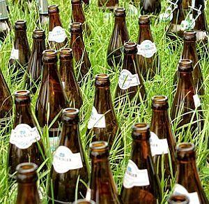 Alte Flaschen sammeln