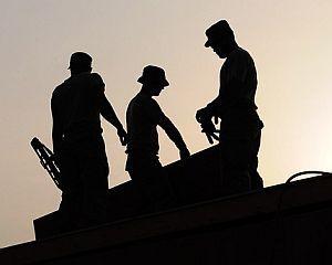 Arbeitnehmer auf dem Bau
