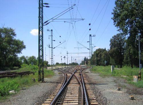 Bahnstation in Ungarn