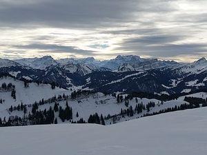 Berg Schnee Panorama