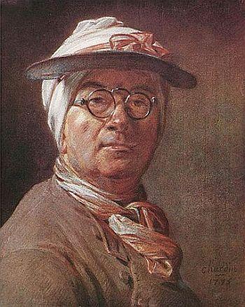 Selbstporträt mit Brille