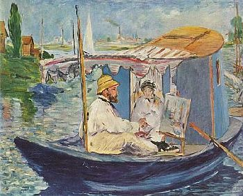 Claude Monet - Schwimmendes Atelier