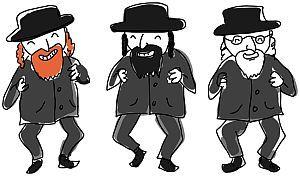 Comic Figuren ethnische Juden