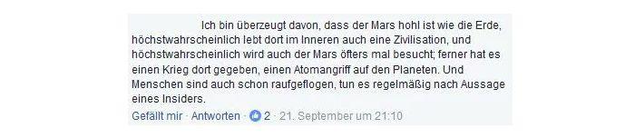 Der Mars ist hohl wie die Erde
