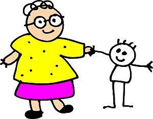 Einzelkind mit Oma