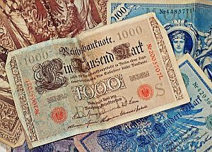 Inflation: alte Banknote