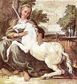Krafttier Einhorn