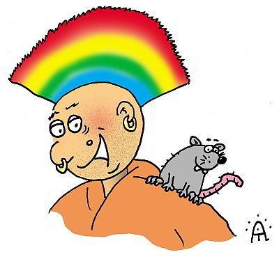 Punk mit Ratte
