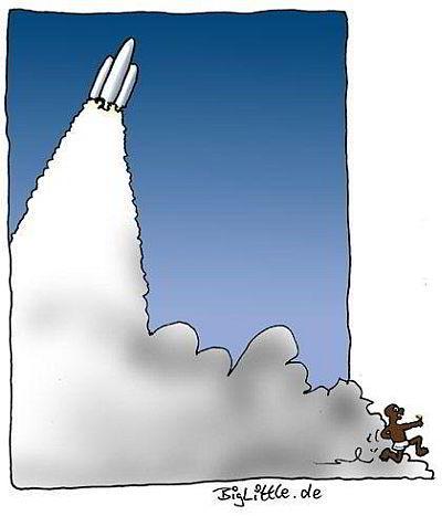 Cartoon Raketenstart