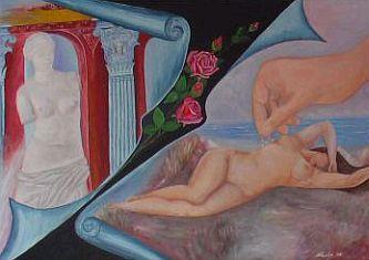 Gemälde von Nacka Kovacic: Akt