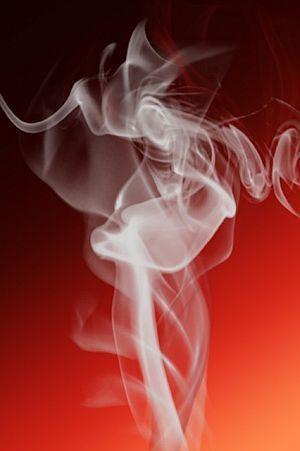Rauch eines Kettenrauchers