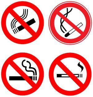 Rauchen verbieten. Rauchverbot
