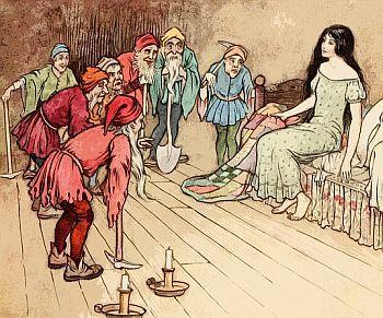 Illustration sieben Zwerge