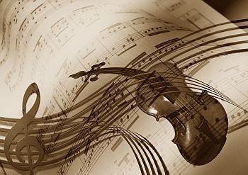 Violine mit Noten