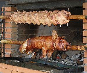 Spanferkel Schwein Grill