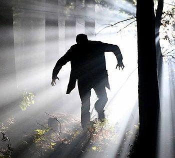 Unheimliche Szene im Wald