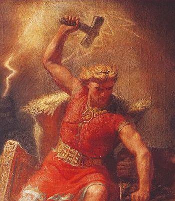 Gemälde Thor