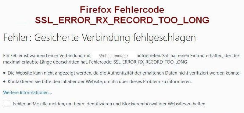 Browser-Fehler SSL