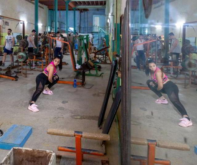 Fitnessstudio auf Kuba