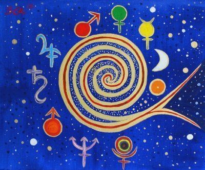 Gemälde Barbara Knuth: Universum II