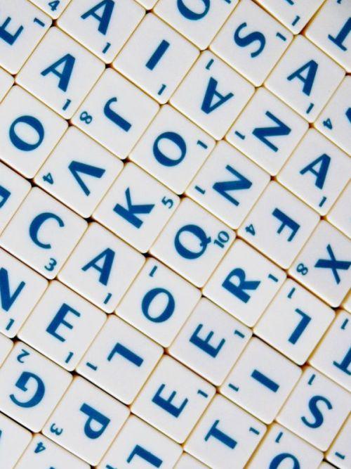 Scrabble Spiel Buchstaben
